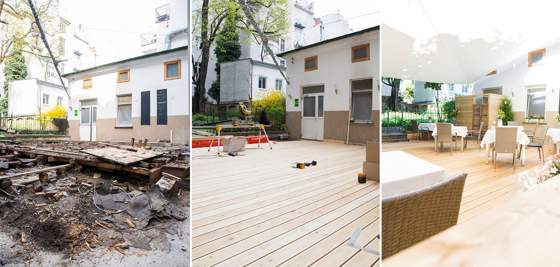 Foto vom Baufortschritt des Lokals Fuhrmann in Wien, 2019
